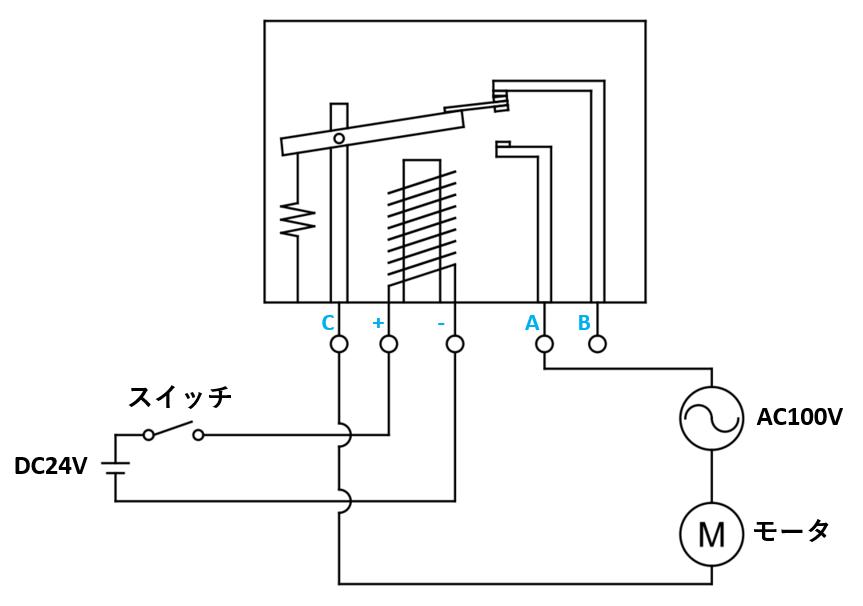 リレーの接続例