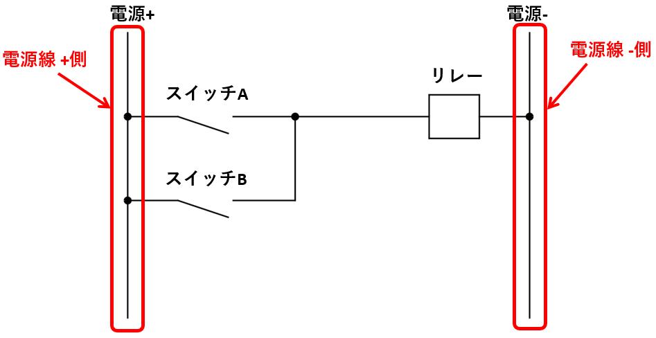 リレー回路図_電源線