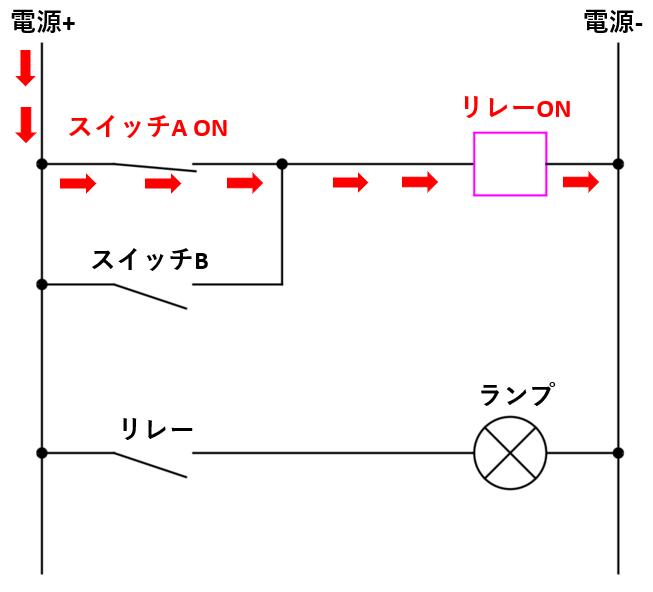 リレー回路図_動作解説①