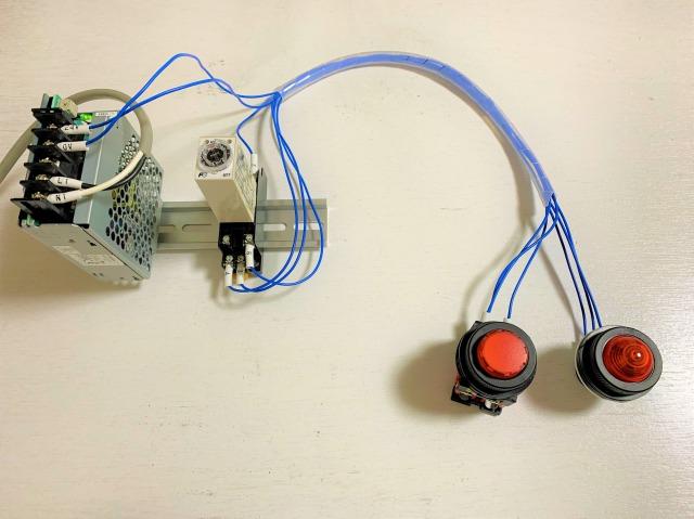 オンディレイタイマ回路の配線の様子