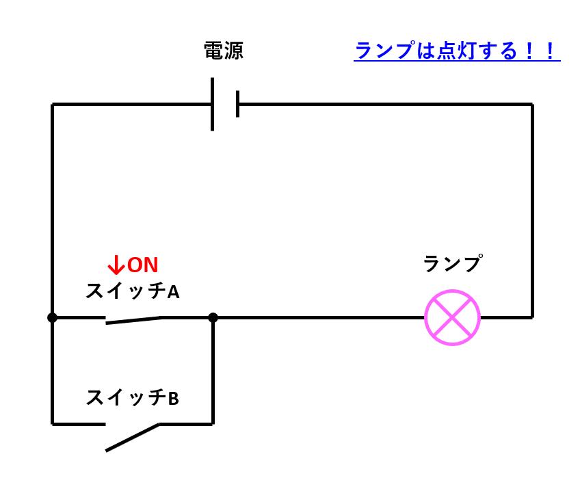 12_電気回路(片方のみON1)