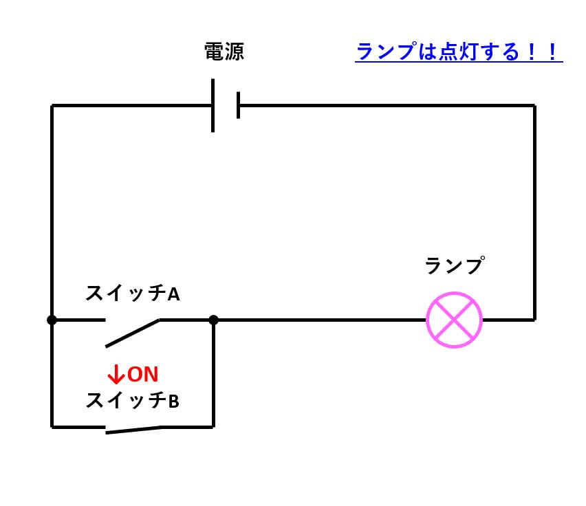12_電気回路(片方のみON2)