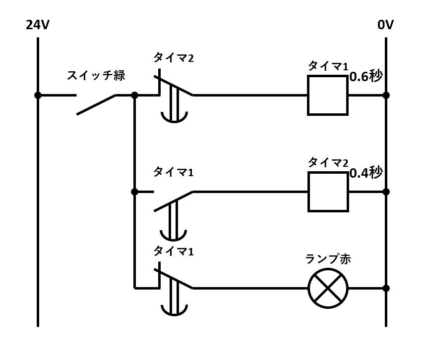 フリッカー回路の回路図