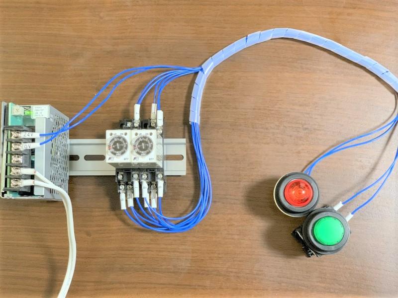 フリッカー回路の配線の様子